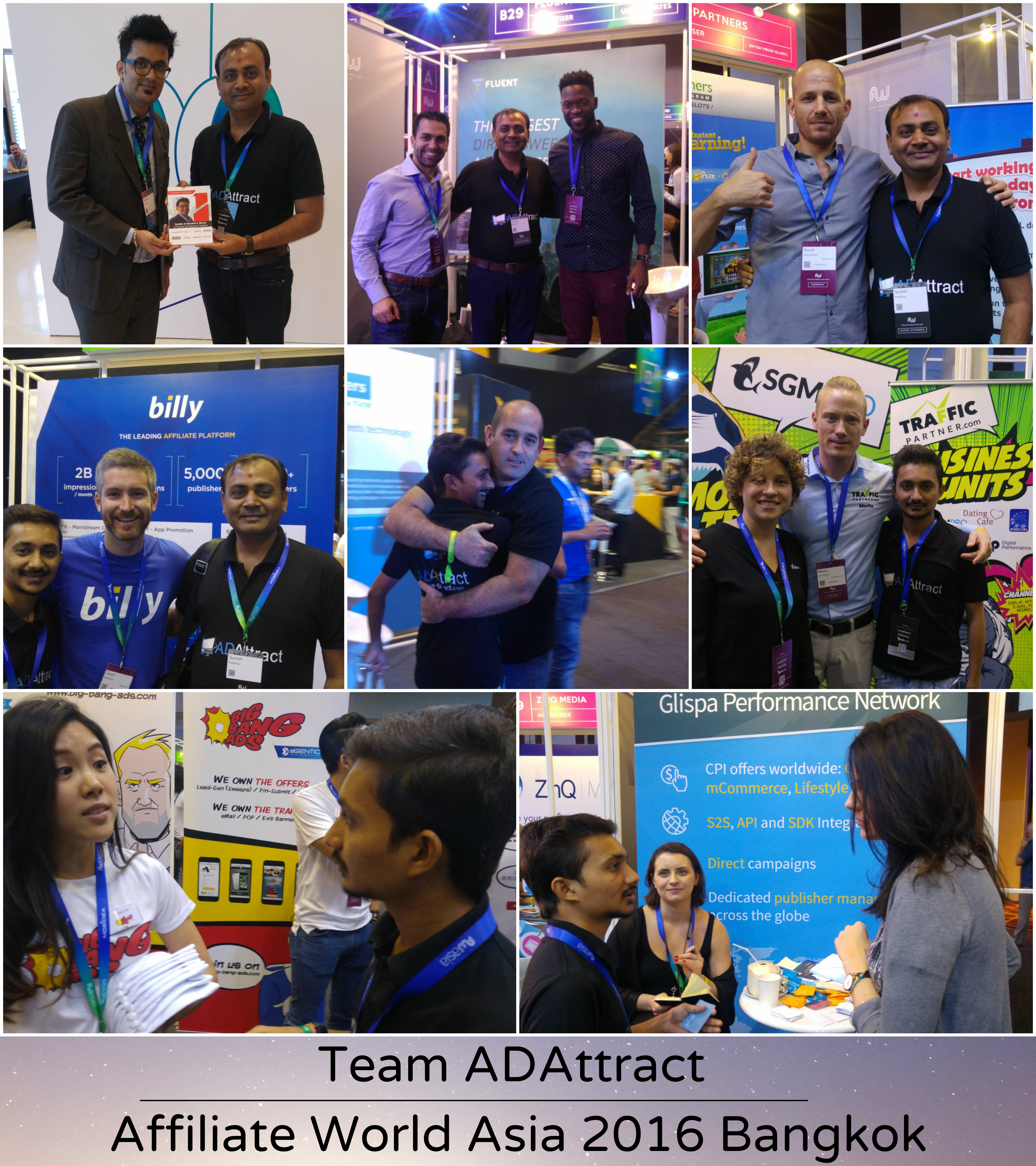 Team ADAttract at Affiliate World Asia 2016