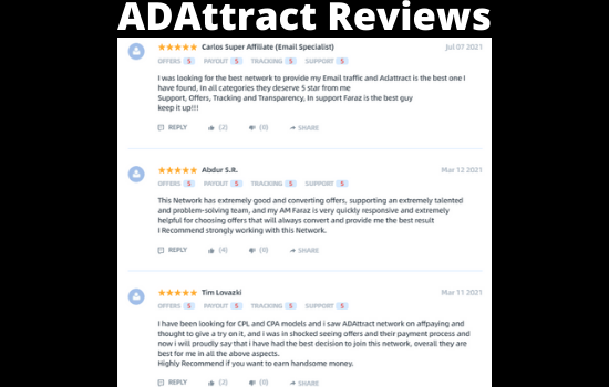 Best website for Affiliate Review - ADAttract