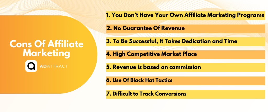 Cons Of Affiliate Marketing